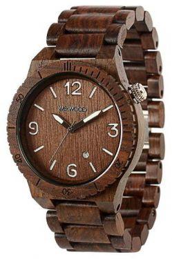 Wewood Uhr Holzuhr Alpha Chocolate Armbanduhr WW08001 Herrenuhr