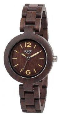 Wewood Holzuhr Damenuhr Mimosa Choclate Armbanduhr WW14003