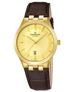 Candino Herren Armbanduhr C4546/2 Lederarmband Uhr Saphirglas