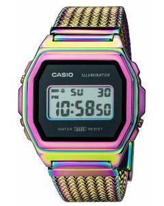 Casio Digitaluhr Armbanduhr Vintage ICONIC A1000PRW-1ER