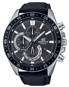 Casio Herrenuhr Edifice Armbanduhr EFV-620L-1AVUEF Lederarmband