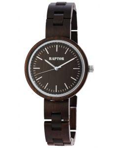 Raptor Uhr Damen Holz Uhr dunkelbraun Holzuhr RA10190-001