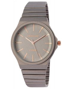 Damenuhr Armbanduhr Excellanc analog Uhr grau