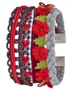 Edelzeit Armband Edeltraut Trachtenarmband Stoff-Armband EZB01