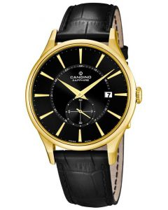 Candino Herren Armbanduhr C4559/4 schwarz gold Lederarmband