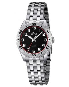 Lotus Teeny Armbanduhr 18170/3 Edelstahl Uhr 33 mm silber schwarz