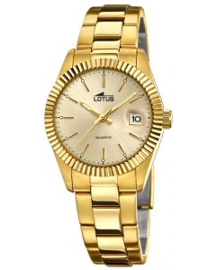 Lotus By Festina Damenuhr 15824/1 Damen-Armbanduhr Edelstahl Gold PVD
