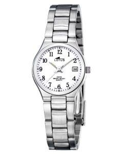 Lotus Armbanduhr Damenuhr 15032/1 Edelstahlarmbanduhr silber