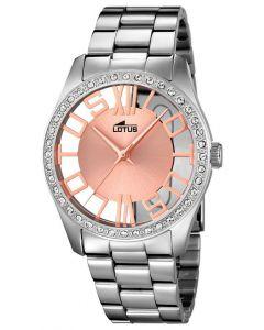 Lotus Damen Armbanduhr Edelstahl 18126/1 silber rose Strass