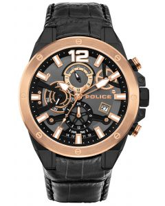 Police Armbanduhr P14381JSTB-02M Uhr für Linkshänder